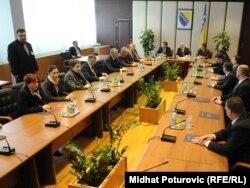 Ministri na prvom radnom sastanku, 10. februar 2012.