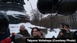 Участники акции в поддержку Анастасии Шевченко