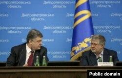Петро Порошенко та Ігор Коломойський. Дніпропетровськ, 26 березня 2015 року