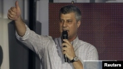 Hashim Thaci, the reelected prime minister of Kosovo and leader of the Democratic Party of Kosovo