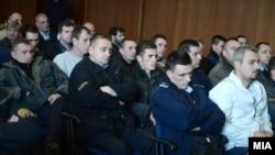Të akuzuarit e rastit të Kumanovës gjatë seancës së 9 shkurtit 2016