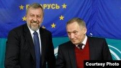 Андрэй Саньнікаў і Ўладзімер Някляеў