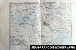 یکی از نقشههای ترسیمی پروست از نقاط شیوع طاعون در جهان که سال ۱۸۷۷ منتشر شد