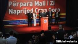 Milo Đukanović na predizbornom skupu, FOTO: www.dps.me