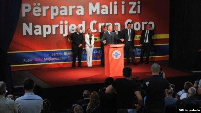 Milo Đukanović na predizbornom skupu u opštini Tuzi