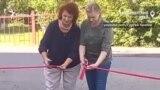 В Красноярском крае торжественно открыли заасфальторованную парковку
