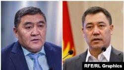 Камчыбек Ташиев менен Садыр Жапаров.