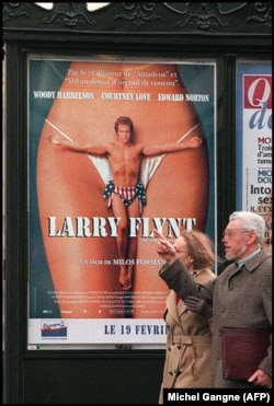 Afișul filmului The People vs Larry Flynt, 1996