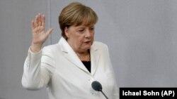 Меркел ортүнчү ирет кызматка киришип, ант брүүдө. 14.03.2018