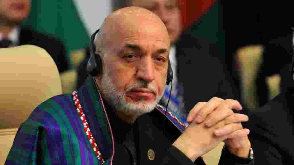 Президент Афганистана и члены афганской делегации