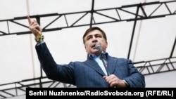 Михаил Саакашвили на акции у Верховной Рады, 17 октября 2017