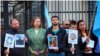 Activists protested the detentions of the Crimean Tatars near the Russian Embassy in Kyiv on September 5.