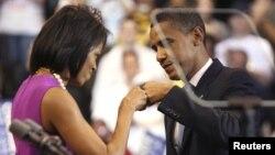 Prezident Barack Obama xanımı Michelle ilə