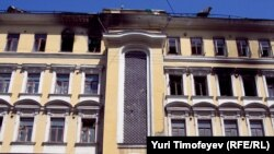 Пожар в доме купца Привалова, Москва, 07.06.2011