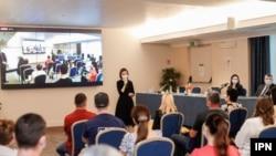 Președinta Maia Sandu la întâlnirea cu diaspora din Italia, Roma, 19 iunie 2021/IPN