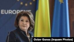 Romania- Rovana Plumb, minister of Transports, Bucharest