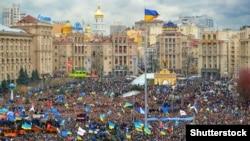 """""""Евромайдан"""" окуялары, 2013-жылдын декабрь айы."""