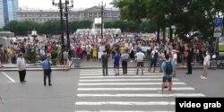 Протест в Хабаровске, 23 июля