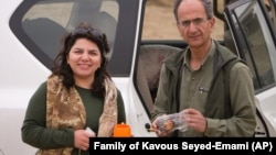 Kavous Seyed-Emami and his wife, Maryam Mombeini