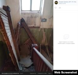 Автор этого фото утверждает, что это последствия подземного толчка