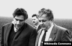 Mircea Druc și Petre Roman, premierii R.Moldova și României
