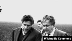 Mircea Druc cu premierul României Petre Roman