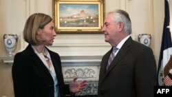 Avropa İttifaqının xarici işlər komissarı Federica Mogherini Vaşinqtonda dövlət katibi Rex Tillersonla görüşüb