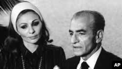 Exiled Queen of Iran, Farah Pahlavi and the late Shah of Iran, Mohammad Reza Pahlavi. Undated. File Photo.