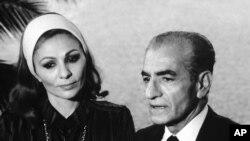 Məhəmməd Rza Şah Pəhləvi həyat yoldaşı Fərəh Diba ilə Panamada, 15 dekabr, 1979-cu il