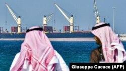 Нефтяной танкер в порту Рас-Аль-Хайр, Саудовская Аравия, 11 декабря 2019
