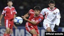 Tajikistan -- Football match between youth team of Tajikistan and Jordan, Dushanbe/Tashkent, 25Oct2010