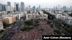 یهودیان و اعراب اسرائیلی در کنار یکدیگر در این تظاهرات با شعار «نه به اشغالگری، نه به الحاق» شرکت کردند