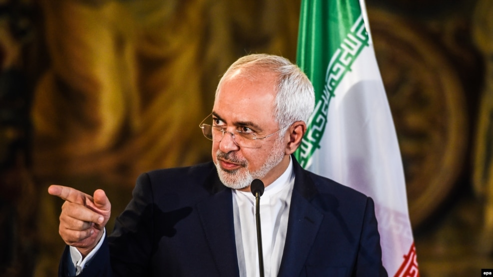 Iranian Foreign Minister Mohammad Javad Zarif in Prague in November 11