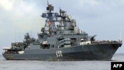 """Ресейдің """"Адмирал Чабаненко"""" әскери кемесі. Көрнекі сурет."""