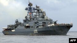 "The destroyer ""Admiral Chabanenko"" has sailed from Severomorsk. (file photo)"
