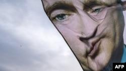 Флаг с изображением Владимира Путина