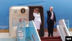 Президент США Дональд Трамп із дружиною Меланією після прибуття до Ізраїлю, 22 травня 2017 року