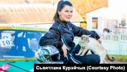 Марыя Вашкевіч і кот Шлёма.
