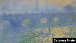 """Уурдалган сүрөттөрдүн бири - Клод Моненин 1901-жылдагы """"Лондондогу Ватерло көпүрөсү"""""""