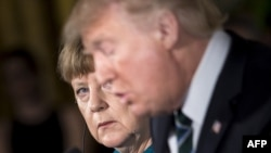 Donald Trump și Angela Merkel, Washington, 17 martie 2017