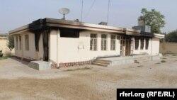 Pamje e ndërtesës së djegur nga talibanët