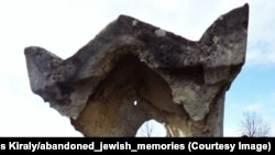 """A tombstone ravaged by weather and time at a cemetery in eastern Austria. In 1939, Europe&rsquo;s Jewish population was around <a href=""""http://www.pewresearch.org/fact-tank/2015/02/09/europes-jewish-population/"""">9.5 million</a>.<br /> &nbsp;"""