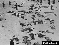 Сторонники националистов, убитые республиканцами после подавления мятежа в Мадриде, июль 1936 года