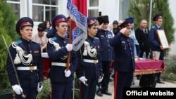 Принятие присяги воспитанниками Крымского казачьего кадетского корпуса. Симферополь, 14 октября 2015 года