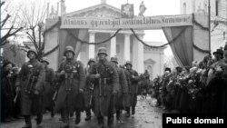 Літоўскае войска ўваходзіць у Вільню 28.10.1939