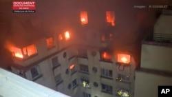 Пожар, жертвами которого стали 9 парижан. 5 февраля 2019