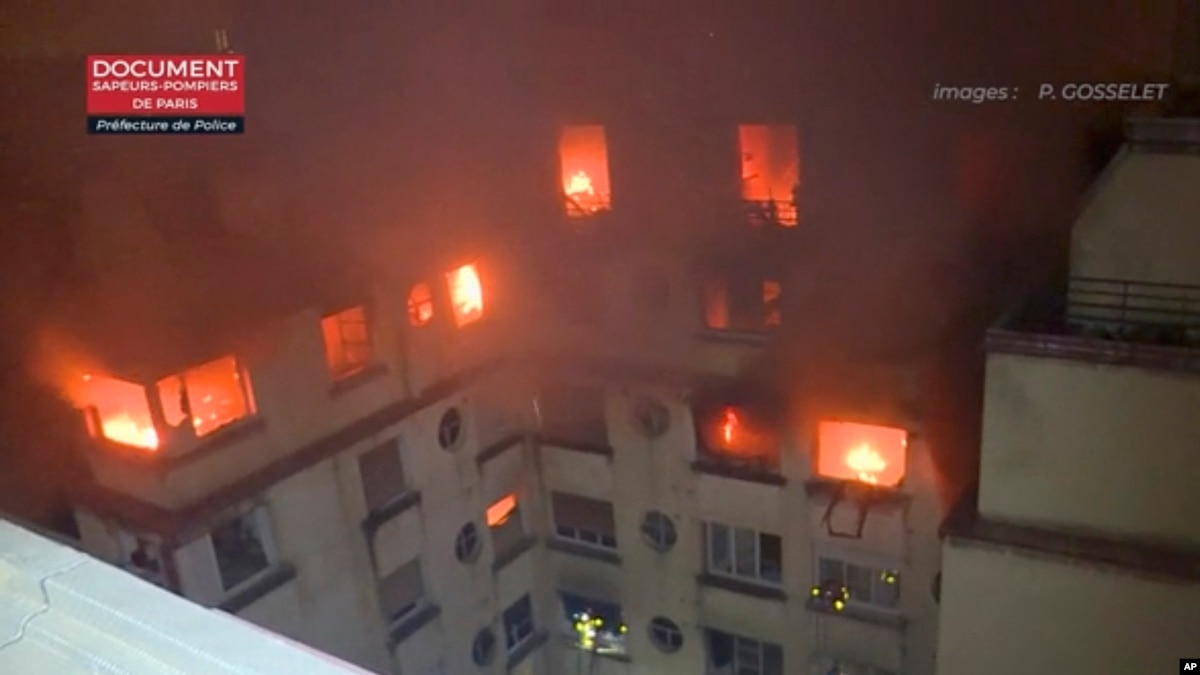 Возросло число жертв пожара в 16-ом квартале Парижа