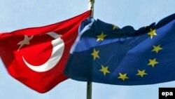 ევროკავშირისა და თურქეთის დროშები