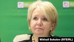 Эмилия Слабунова, председатель партии «Яблоко». Москва, 19 декабря 2015 года.