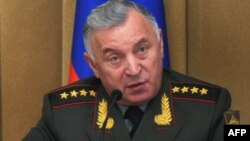Russia -- Chief of General Staff Nikolai Makarov briefs military attachés on Russian military reform in Moscow, 07Dec2011
